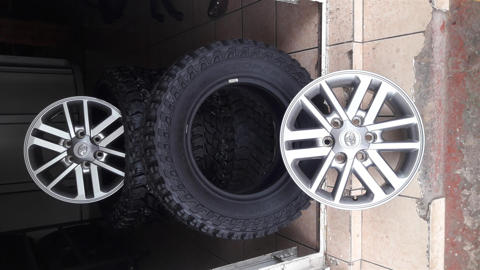 """New LT 265/65/17"""" M+S copper discover tyres and dakar fortuna mags for 18499 (set of4), prices include fitment."""