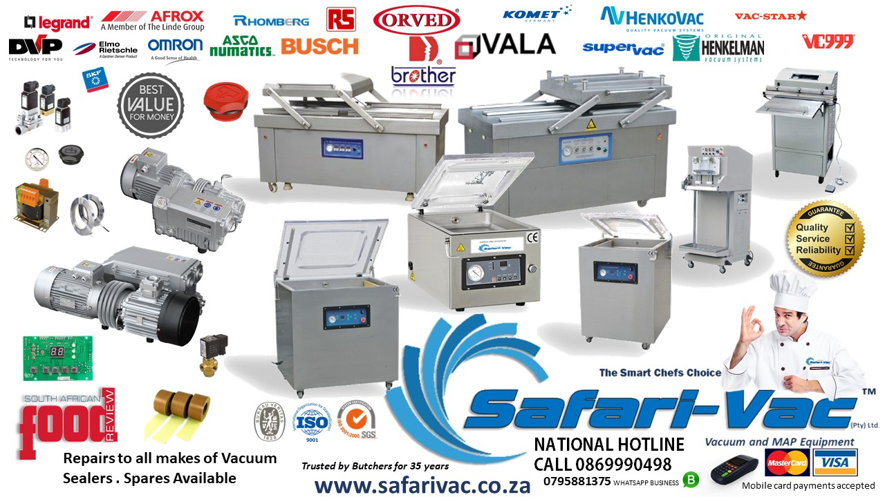 Vacuum Pack Equipment- LOCALLY MANUFACTURED - Safari-Vac™ Evolution®