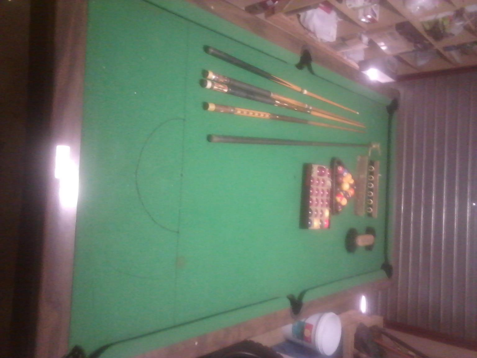 Pool Table Brunswick Bristol & Accessories for sale