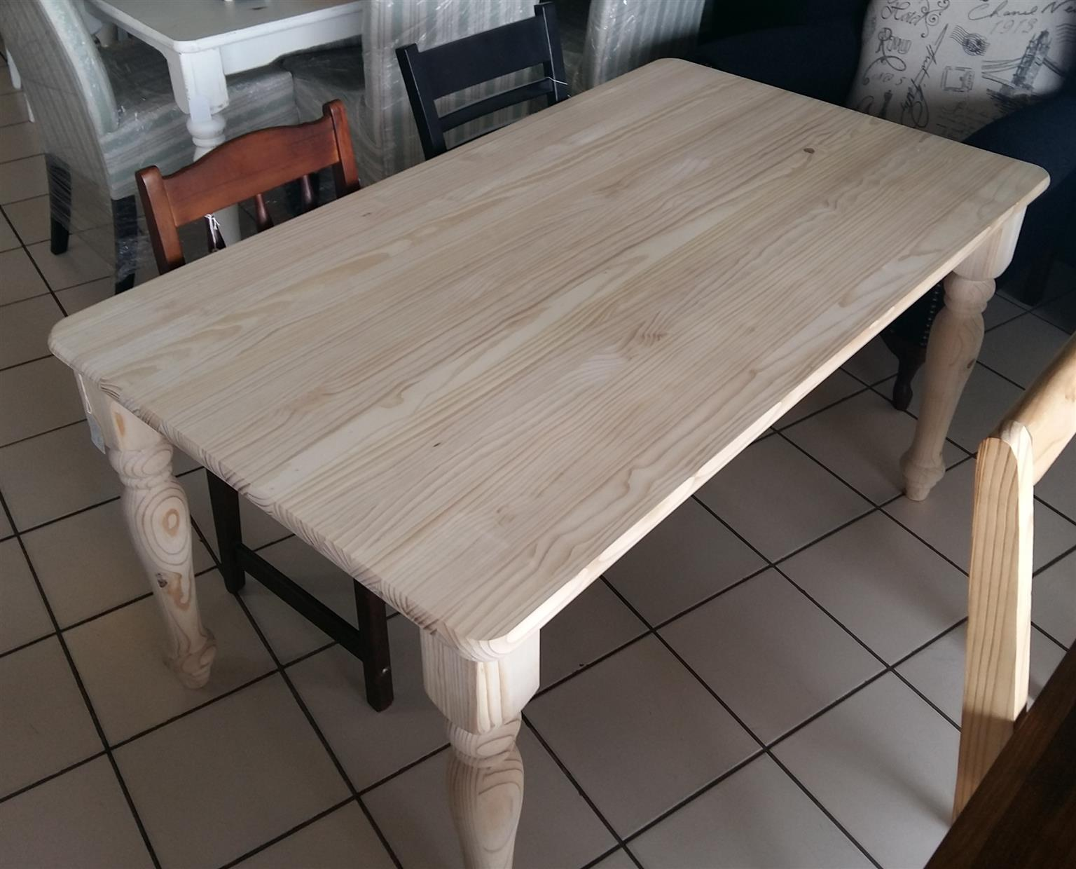 Raw Pine 1500 x 900 Dining Table