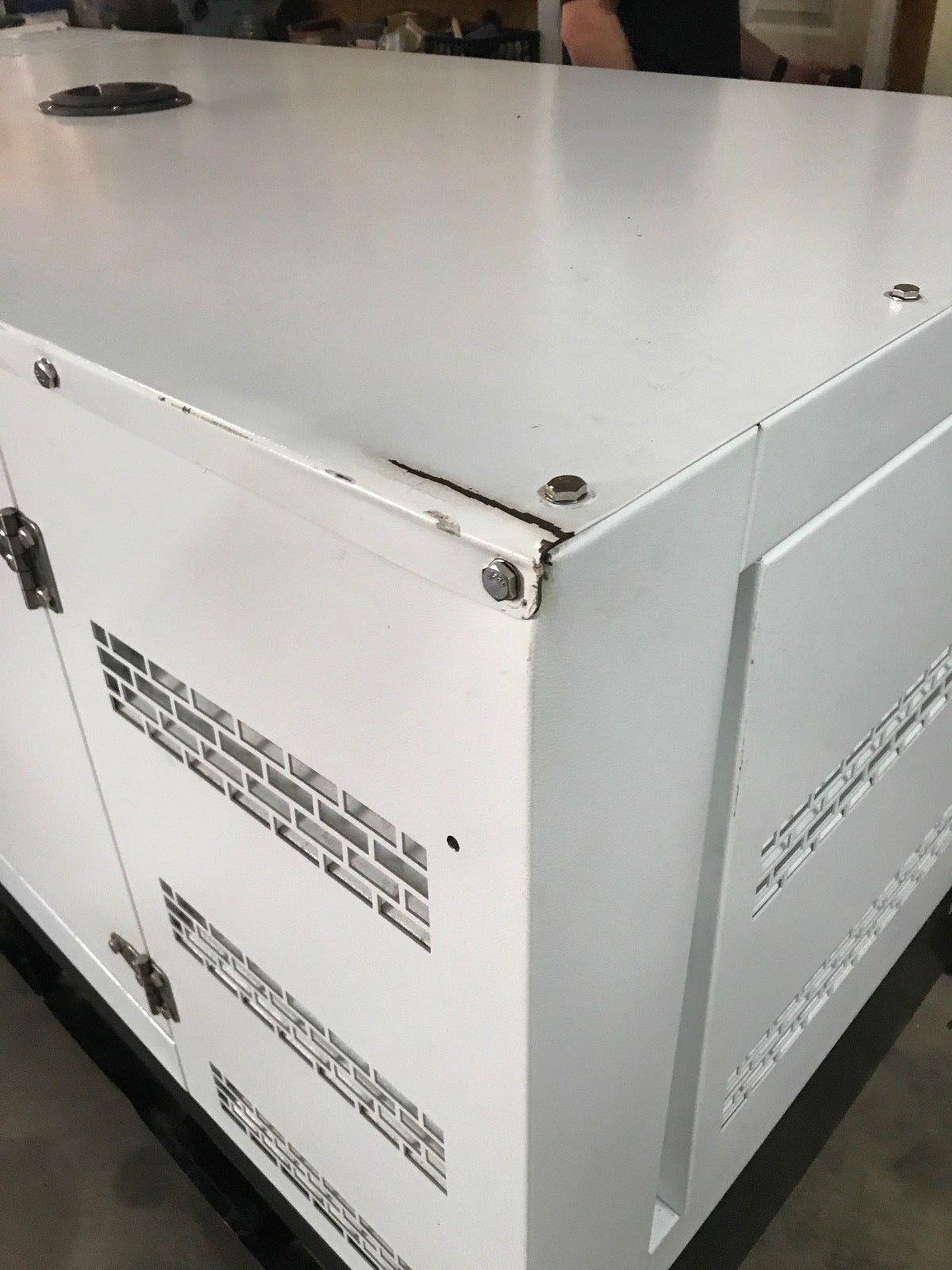 A new 30kw 60hz 120 240v single phase 4cyl turbo sel generator
