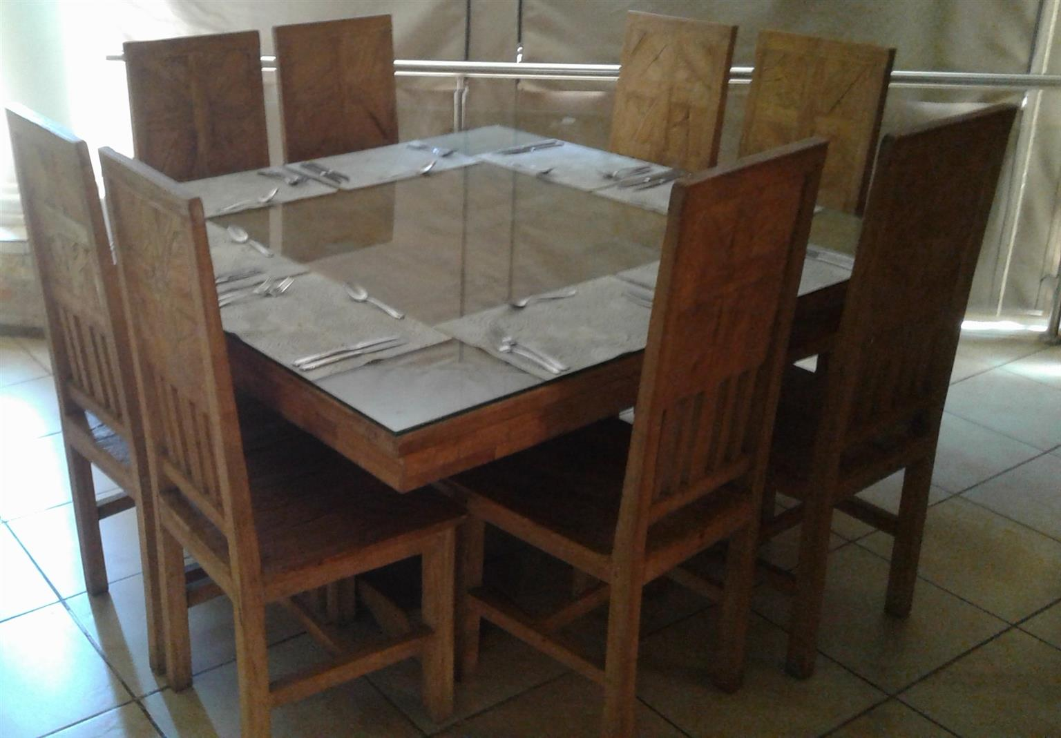 R 14 000 For Sale Simply Elegant Solid Wood Square Dining Table