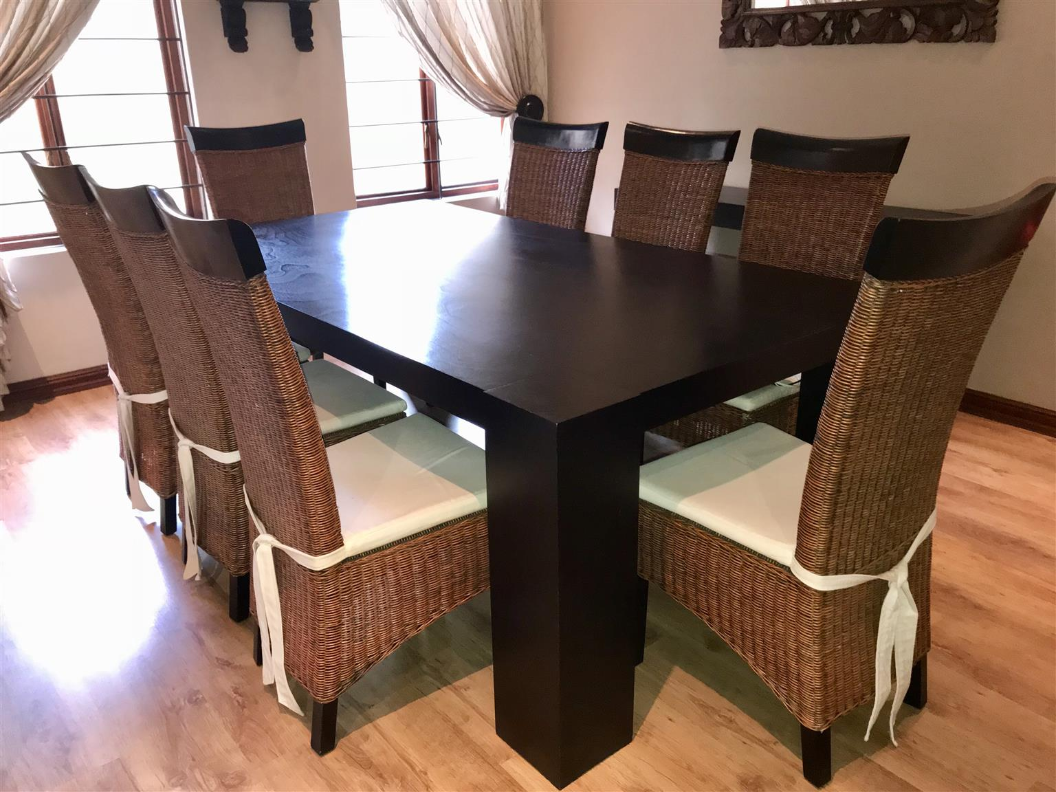 8-seater Coricraft Dining Room Table including 8 Chairs