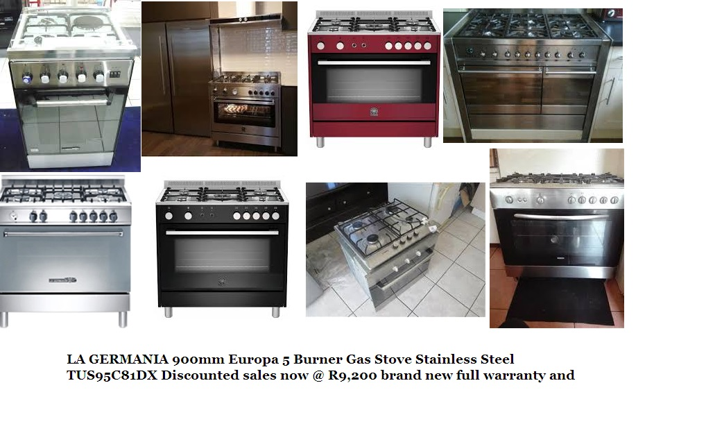 LA GERMANIA 900mm Europa 5 Burner Gas Stove Stainless Steel