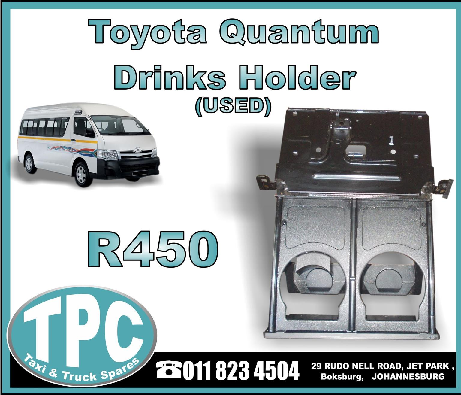 Toyota Quantum Drinks Holder - USED - New And Used Replacement Taxi Parts - TPC.
