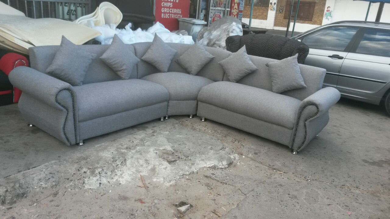 sale! new U shape grey couch