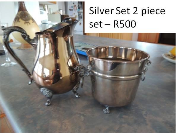 2 Piece silver set