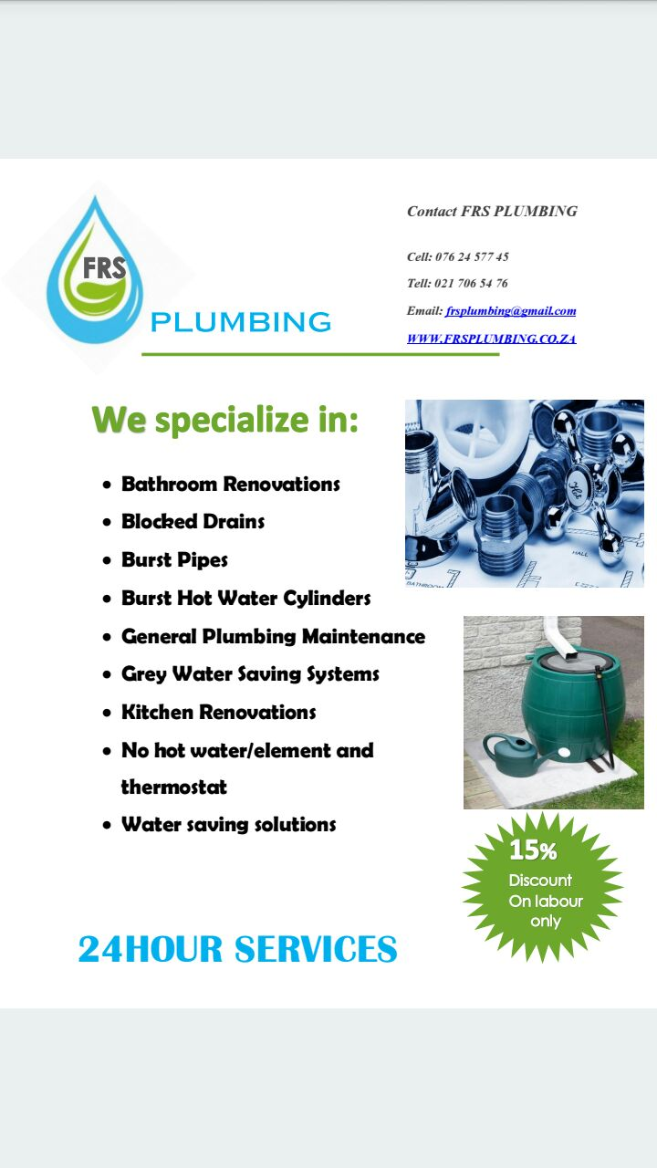 FRS plumbing services
