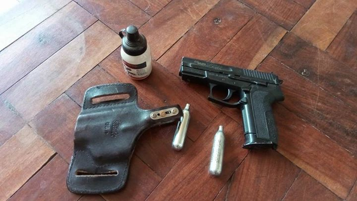 Gas gun with holster for sale