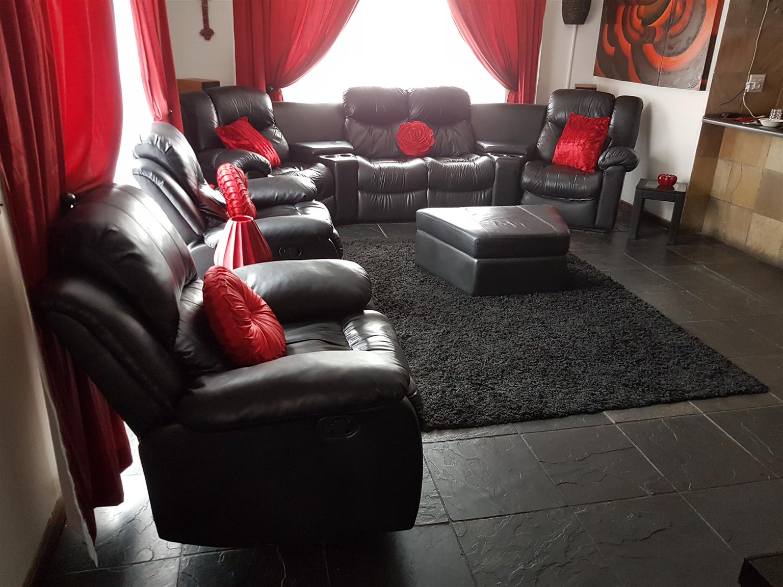 Leather Lounge Suite