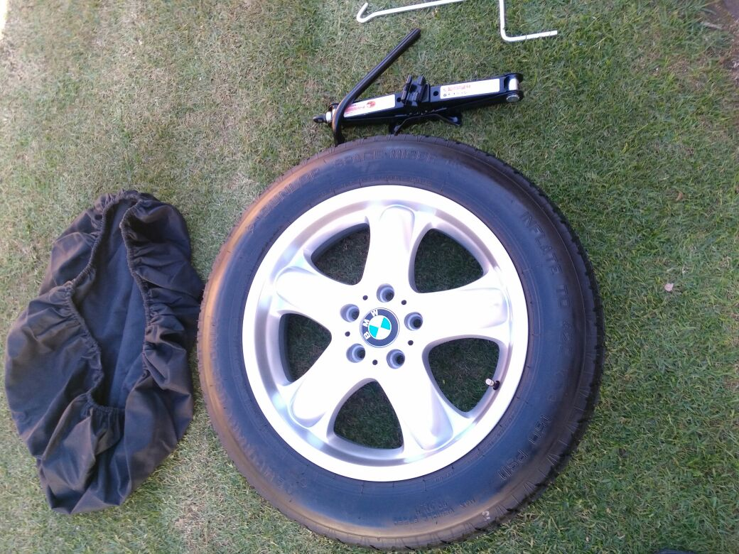 Brand New BMW X5 18 inch Biscuit Spare Wheel with tool kit  R4900
