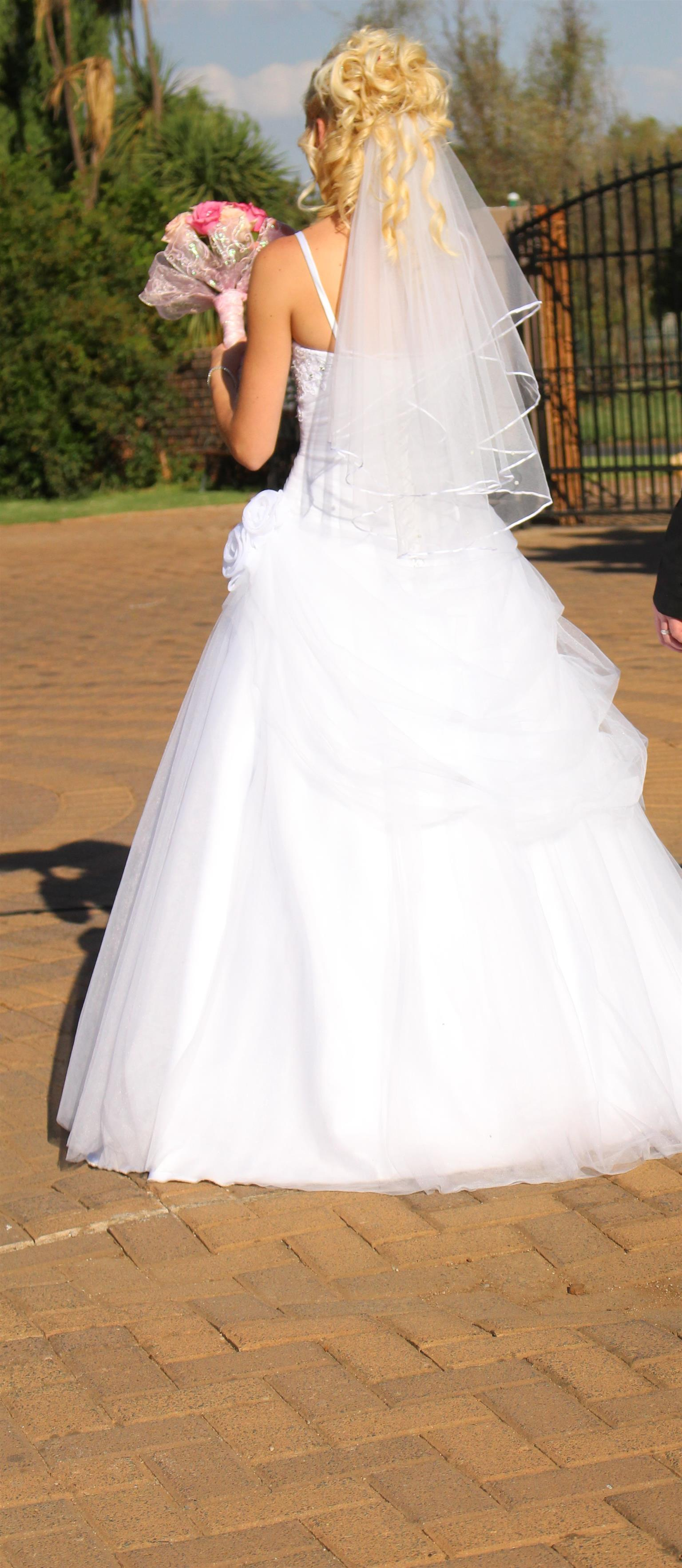 wedding dress & veil for sale