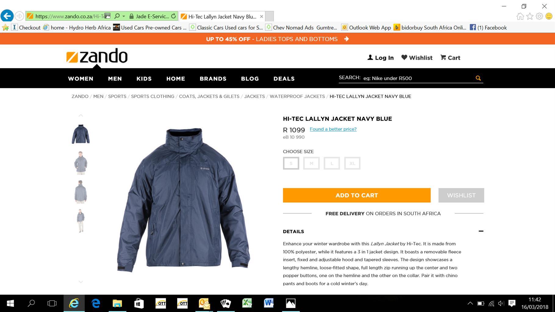 Hi-Tec lallwyn jacket 100% waterproof,