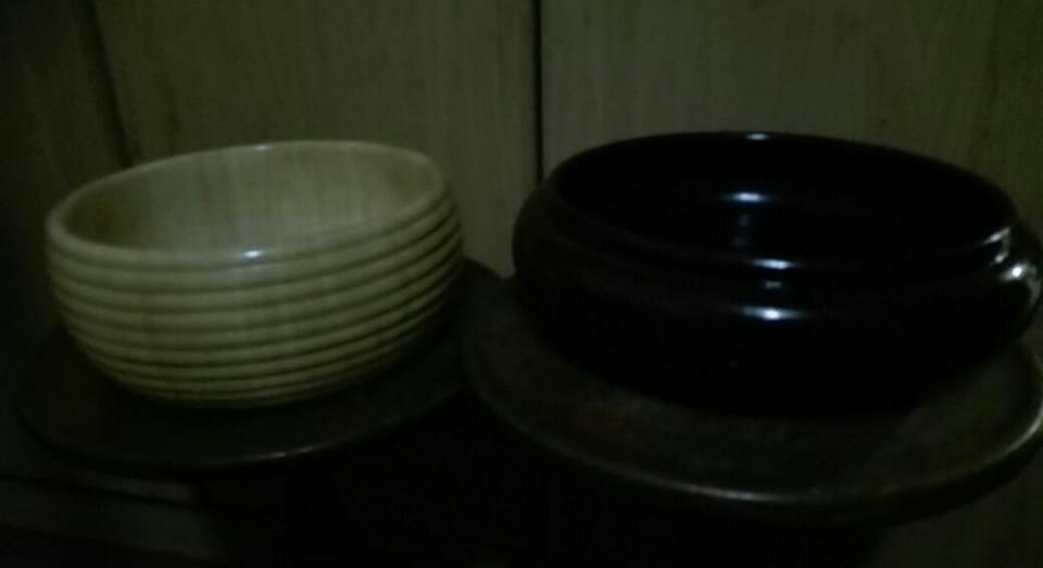 Big glass bowls