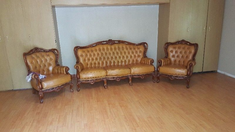 Real leather italian couches