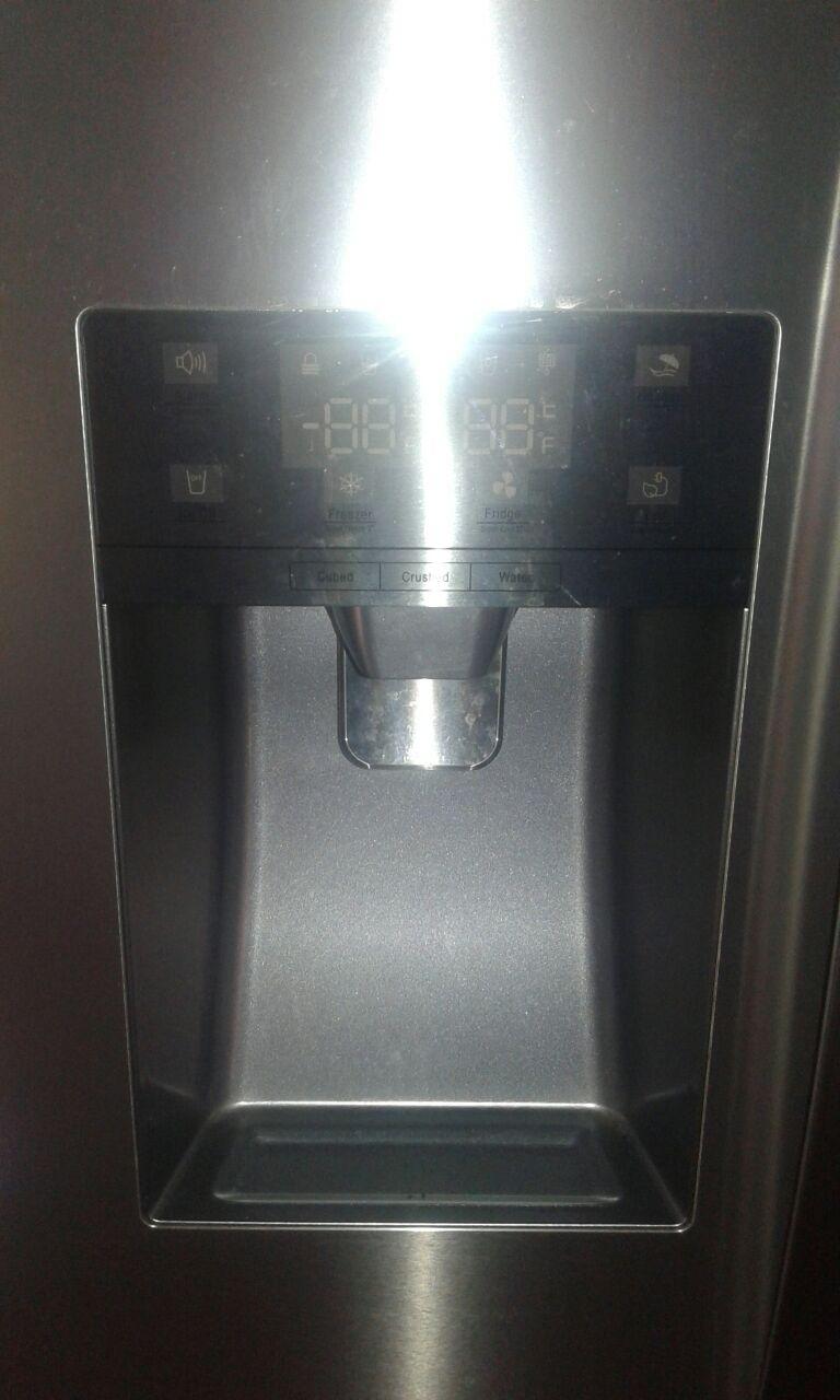 Metallic Hisense fridge 7.5 liter