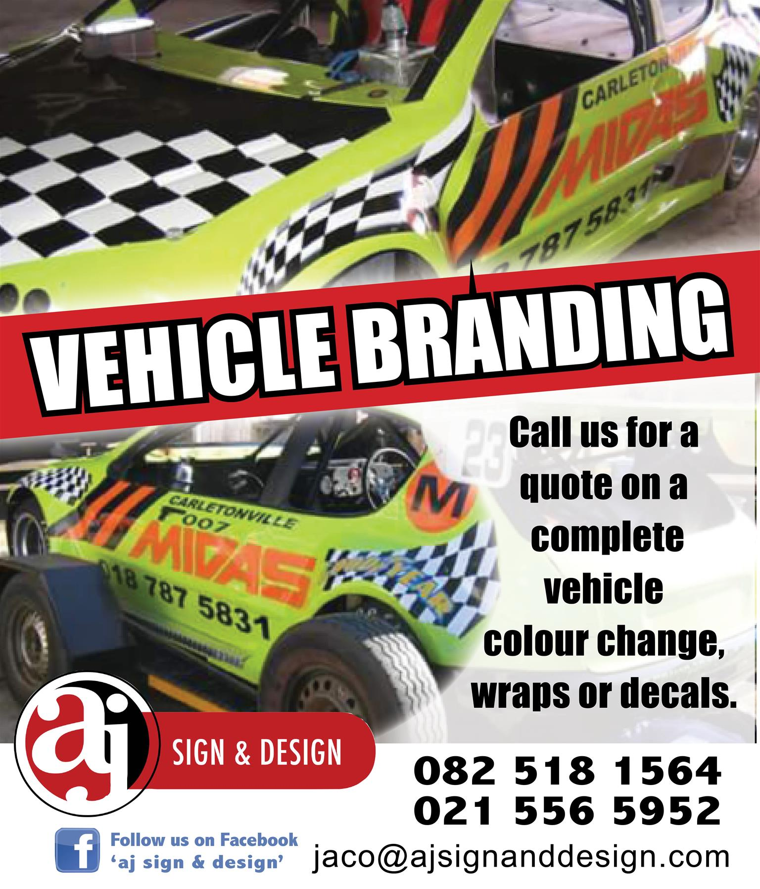 vehicle branding, contra vision on windows, decals or complete wraps.