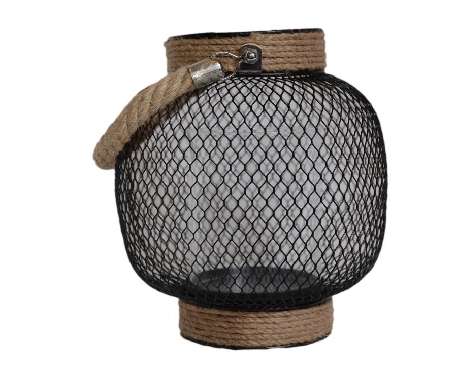 Black mesh wire Lantern