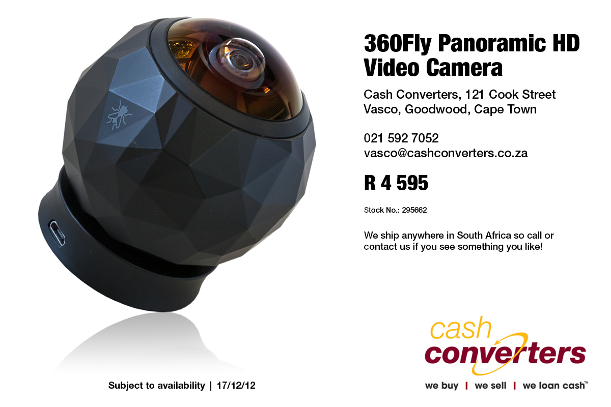 360Fly Panoramic HD Video Camera
