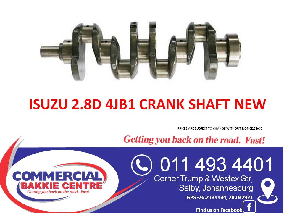 isuzu 2.8d 4jb1 crank shaft new