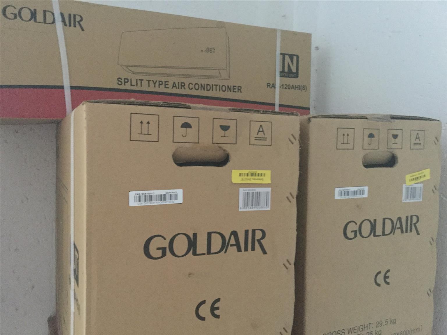 X2 Goldair 12000btu split air cons for R7000