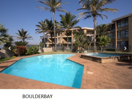 BALLITO HOLIDAY ACCOMMODATION AT VERY POPULAR BEACHFRONT RESORT BOULDERBAY FOR A GIVE AWAY PRICE