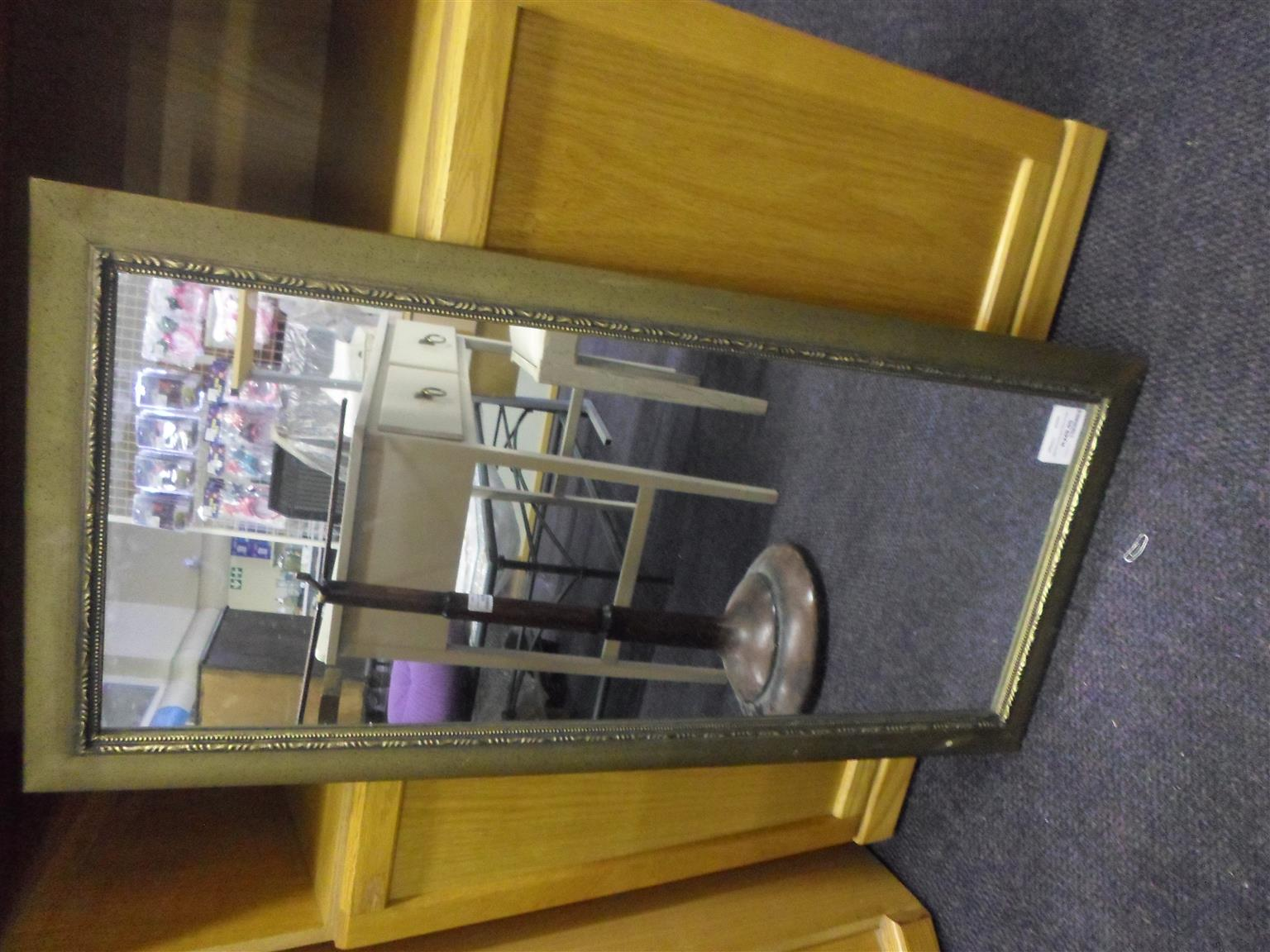 Upright Golden Frame Mirror