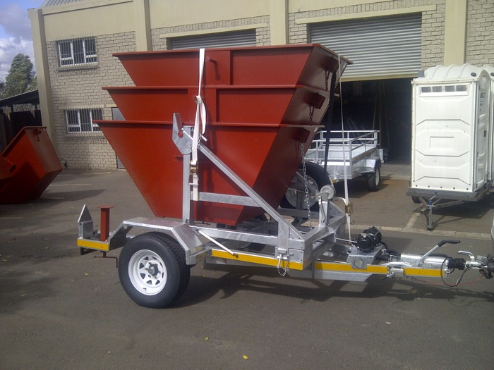 10 mini skips  and  trailer