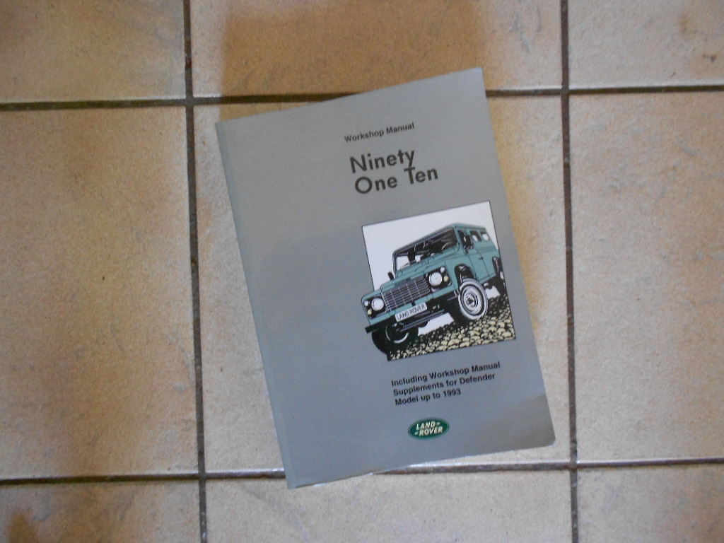 Land Rover Defender workshop manual