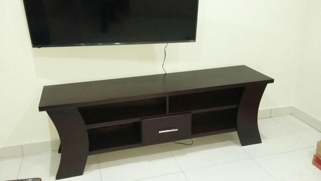 Black Wooden plasma TV stand