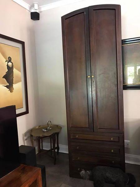 Stunning dark wood cabinet