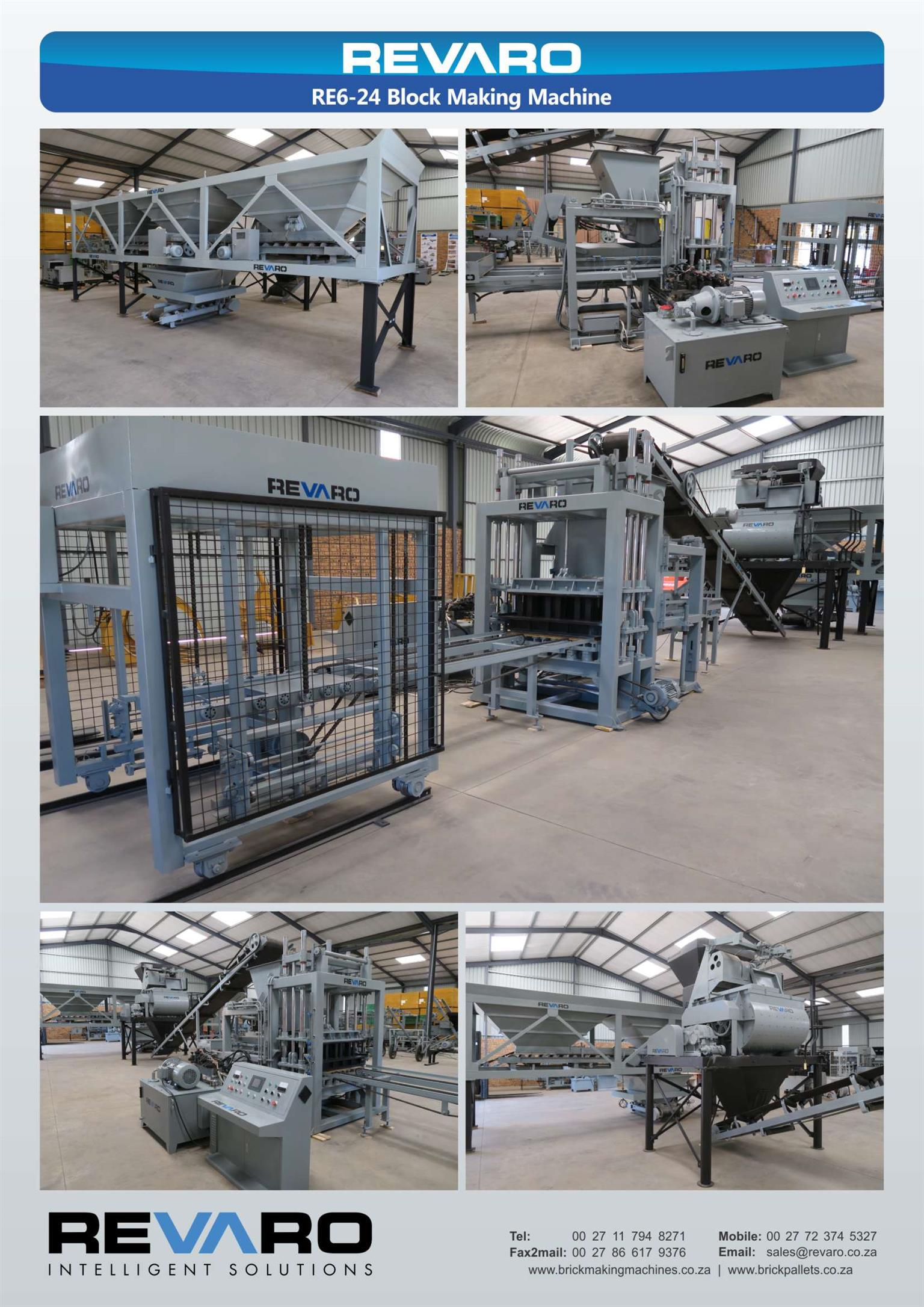 Revaro RE6-24 Medium static hydraulic brick making machine