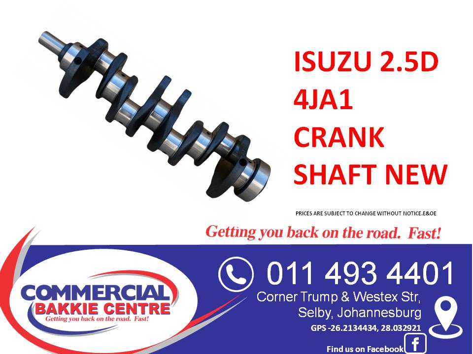 isuzu 2.5d 4ja1 crank shaft new
