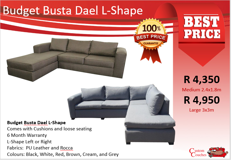 Showroom Open Today! Dael Budget Busta L-Shape