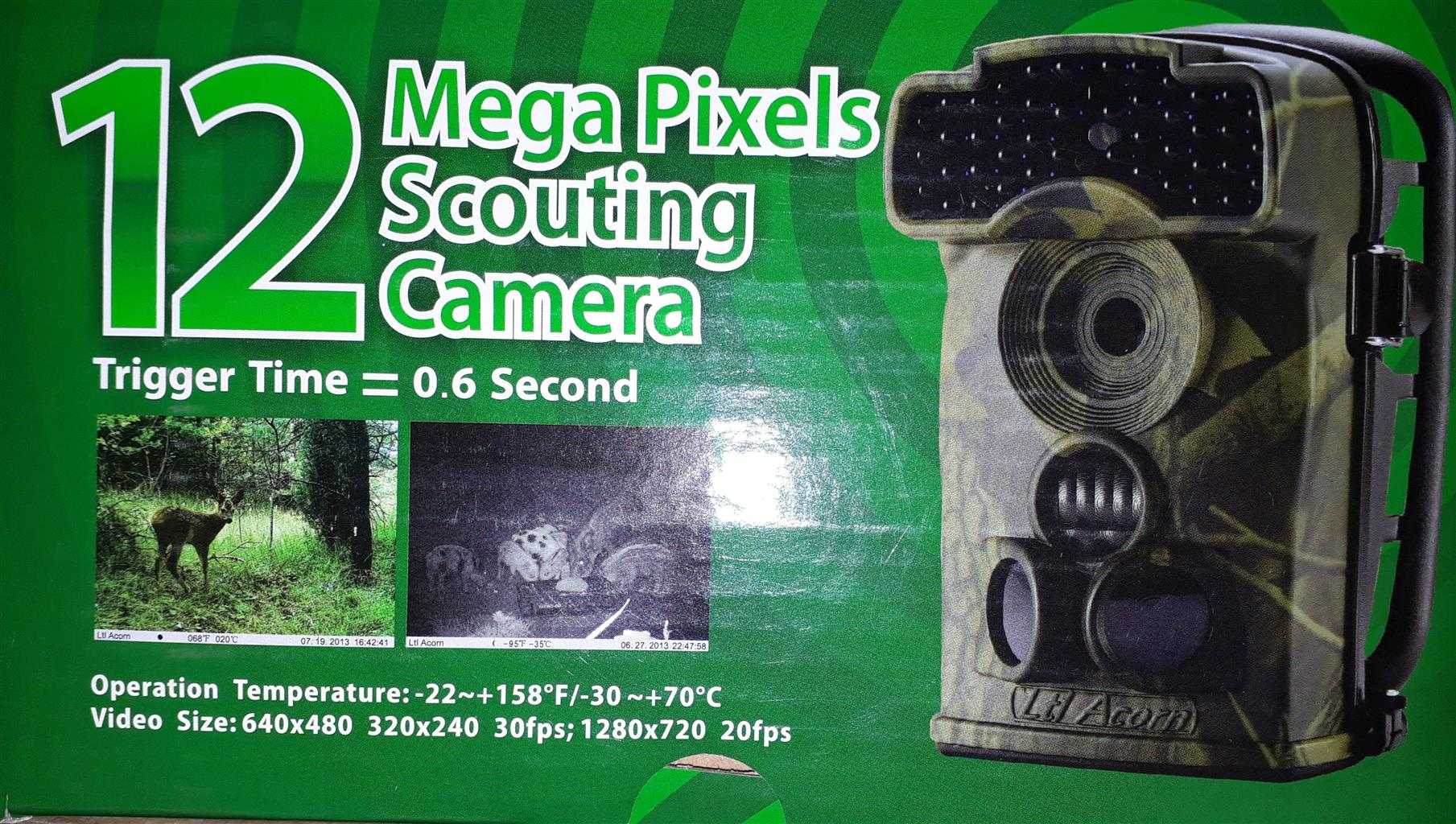 12 Mega Pixels Scouting/trial camera