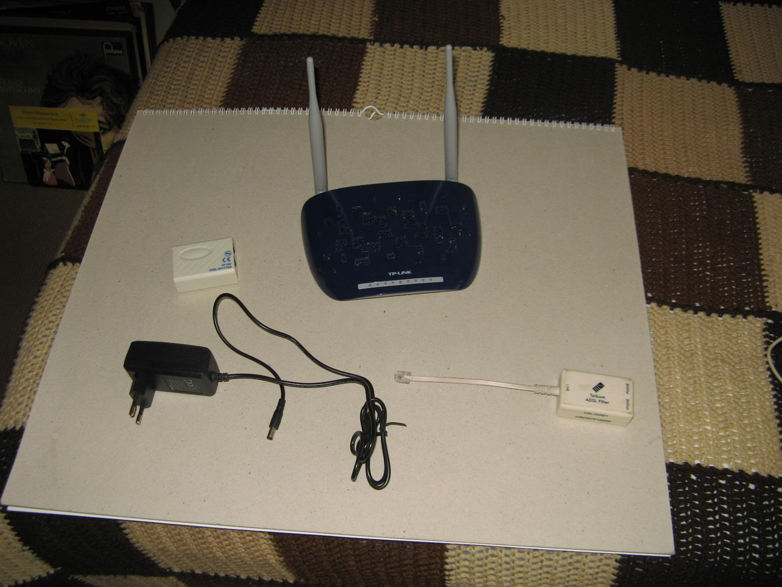 PC ADSL router and adaptor plug for half price