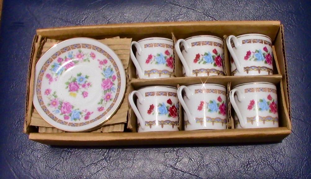 Demi Tassi 6 piece Coffee cup & saucer SET