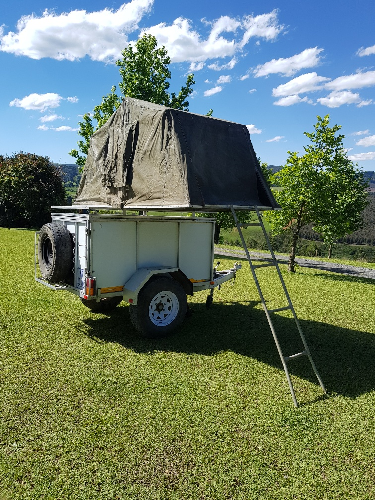 Off-road trailer and Roof-top tent