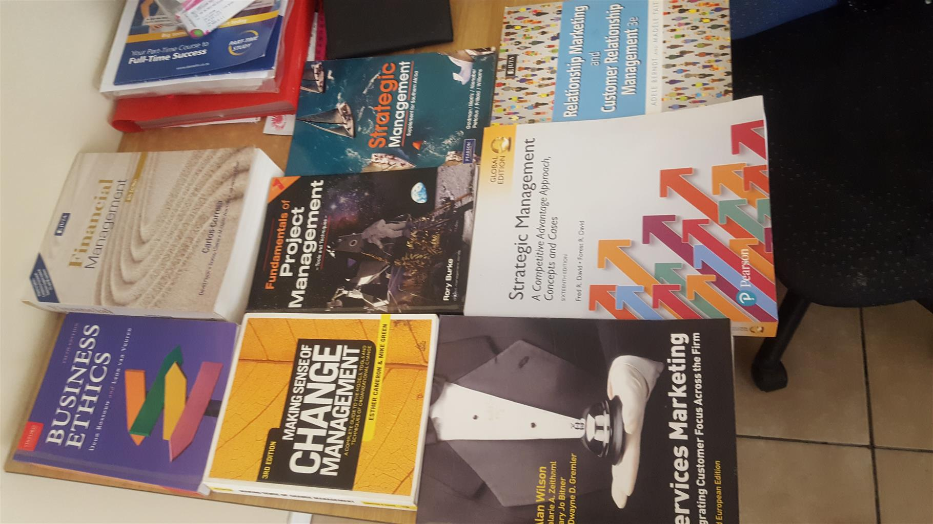 All 3rd year bcom management and marketing  textbooks