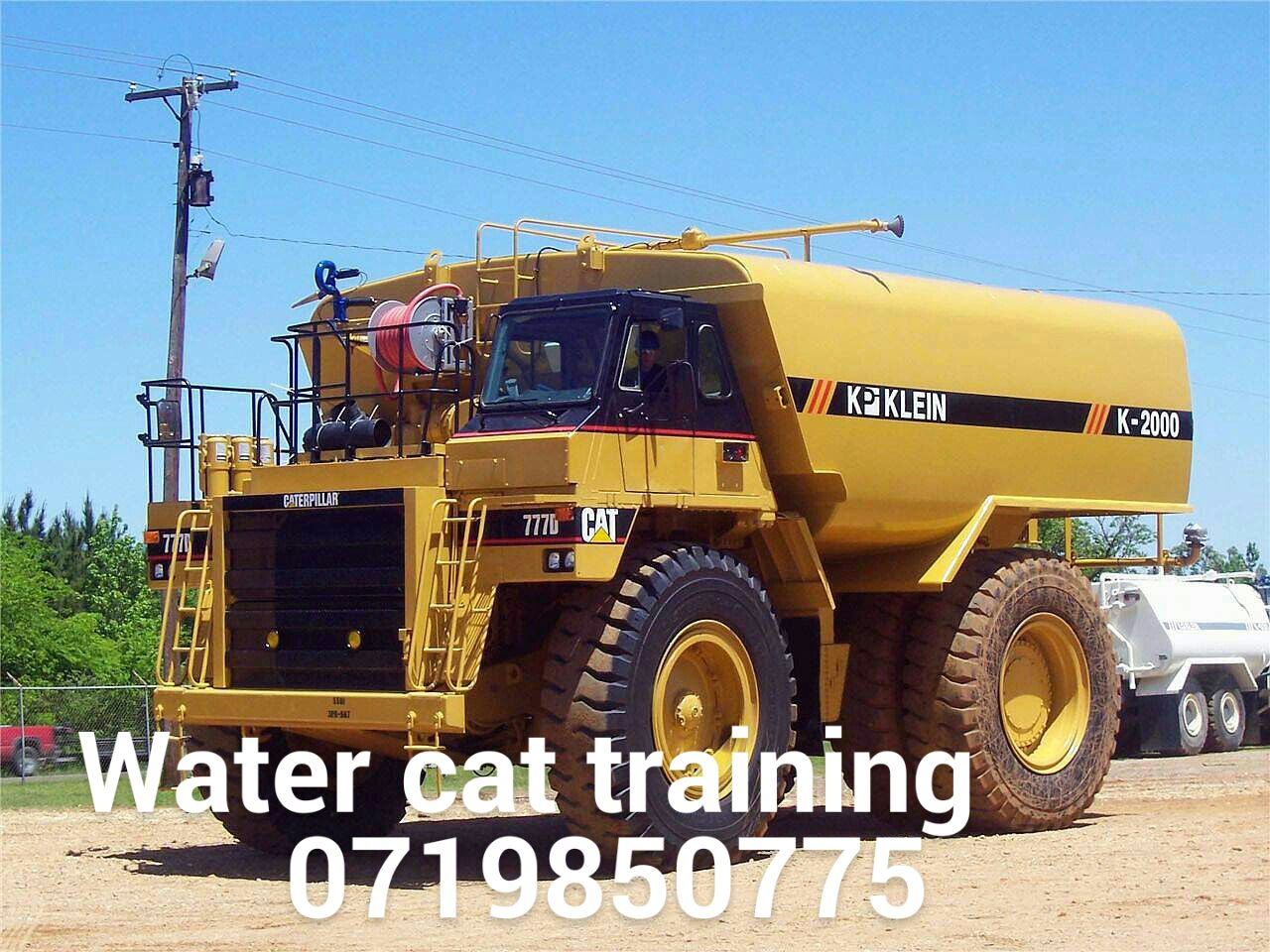 water cat course 777 dump truck training plumbing Boilermaker diesel mechanic classes 0733146833