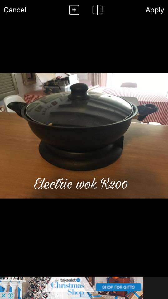 Electric wok for sale