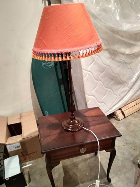 Burnt orange lamp