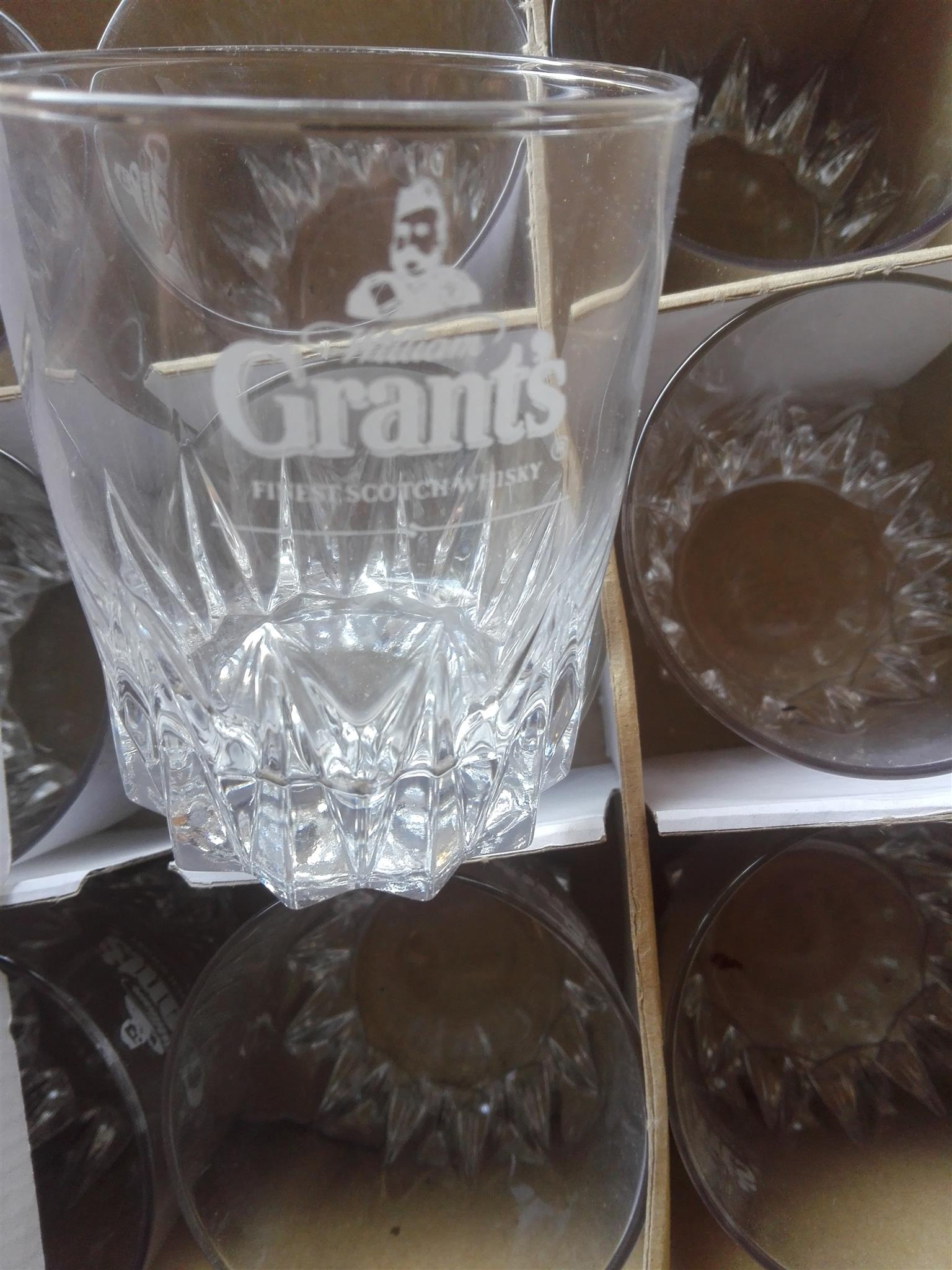 Grants Scottish whisky glasses