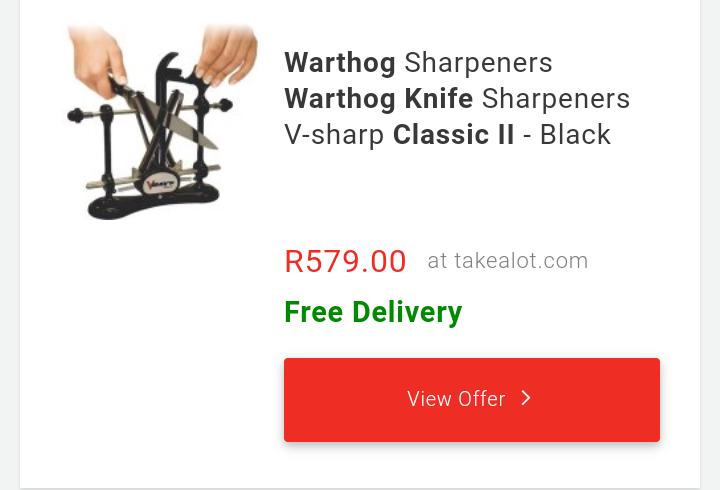 Warthog Knife Sharpener - V-Sharp Classic II