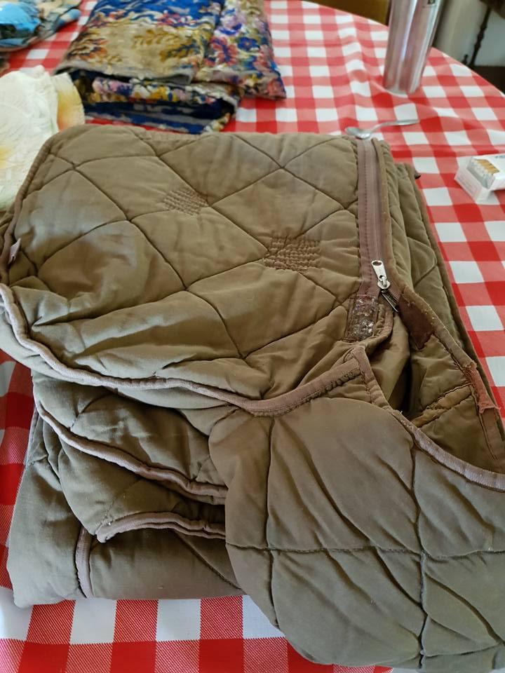 Green sleeping bag for sale
