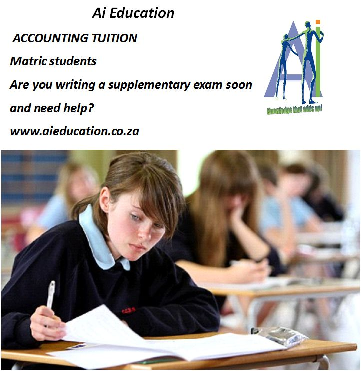 Accounting tuition - Supplementary exams