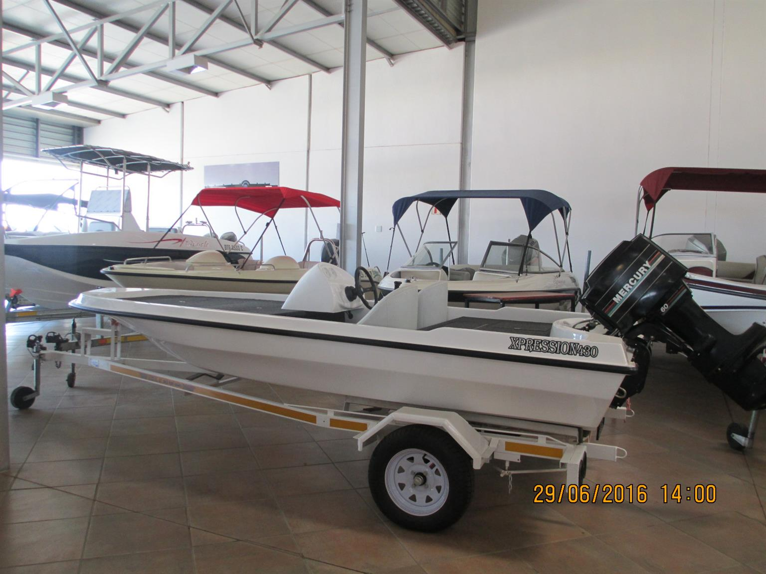 Expression 480 Bass Boat Trailer Only No Engine Brand New First
