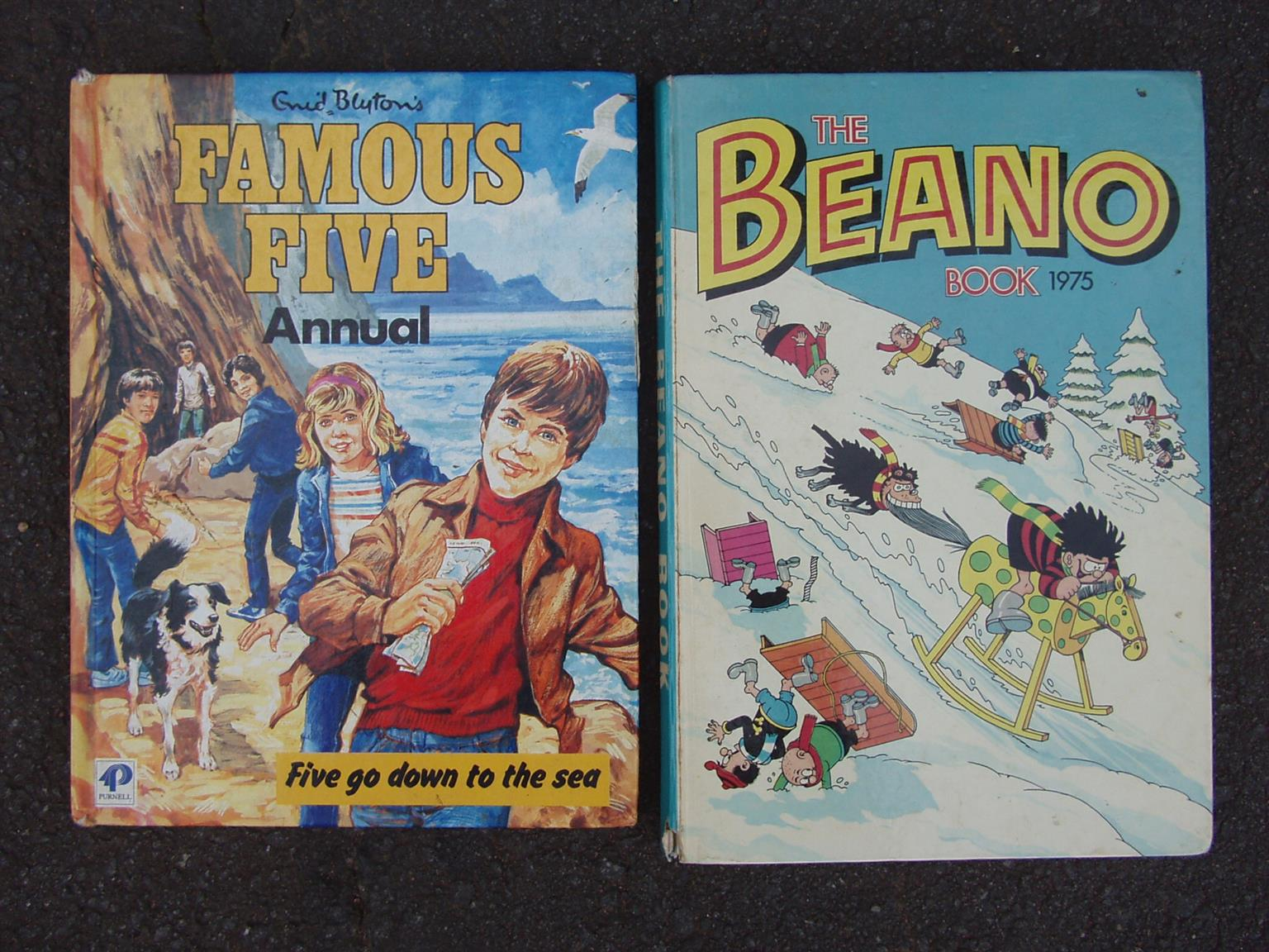Famous Five Annual and The Beano Book - both books in good condition - R 750