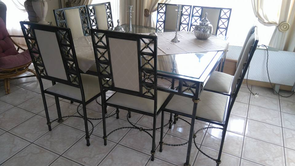 Iron Dining Room Suite