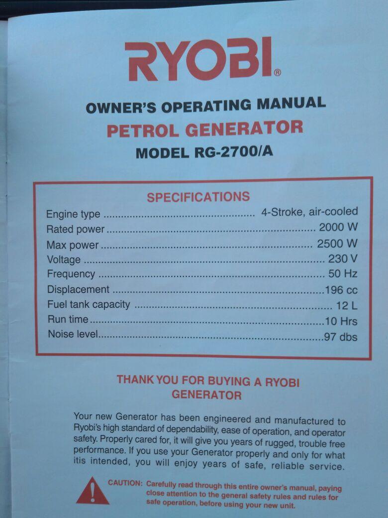 petrol generator in Gardening, Outdoors and DIY in North